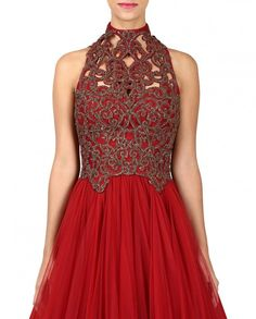 Red Gown from Shantanu