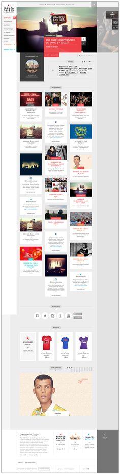 Les Francofolies de La Rochelle #webdesign #website