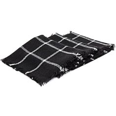 Yoins Black Check Fringed Jacquard Scarf (16785 IQD) ❤ liked on Polyvore featuring accessories, scarves, fillers, black, checkered scarves, fringe scarves and fringe shawl