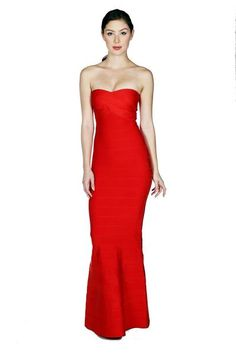 22bfece5642 Naughty Grl Elegant Mermaid Tube Bandage Maxi Dress - Red. NaughtyGrl