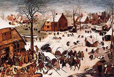 The Enumeration at Bethlehem, 1566, Pieter Bruegel, Brussels