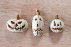 Spooky cool handmade jack-o-lantern magnets