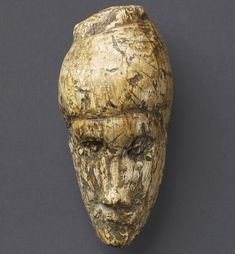 Ancient: The oldest known portrait of a woman. The 4.8cm work is sculpted from mammoth ivory and was found at Dolní Vestonice, Moravia, in the Czech Republic, it is around 26,000 years old