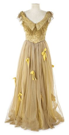 Susan Hayward ivory period dress from an unidentif - by Profiles in History