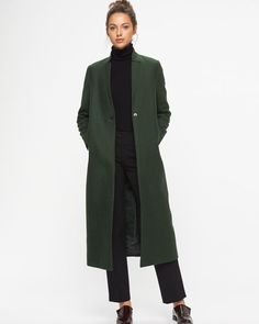 Claudel Column Long Coat | Jigsaw
