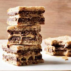 Hazelnut, Nutella and Caramel Ice Cream Sandwiches