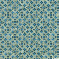 Grand Majolica - Glazed Trellis - Steel Blue/Gold. Fabric from eQuilter.com