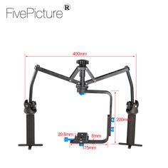 DUAL GIMBAL Handheld Stabilizer Video Spider Steadicam Steady Rig fr DSLR Camera