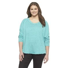 Plus Size Long Sleeve Leisure Top-Mossimo Supply Co.