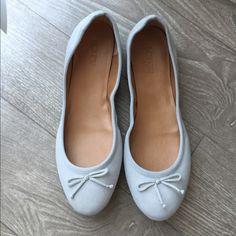 J. Crew Ballet Flats J. Crew grey, suede ballet flats. Never worn. Excellent condition. J. Crew Shoes Flats & Loafers