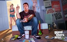 GTA V Jimmy and Tracey Free HD Wallpaper