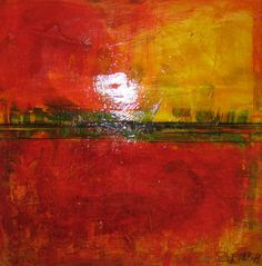 abstract landscape paintings | Summer Day2 1008x1024 Abstract landscape painting of an Australian ...