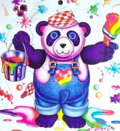 panda painter by Lisa Frank, I had this on a notebook