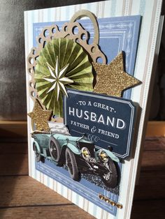 A luxury Father's Day card from my Etsy shop https://www.etsy.com/listing/279650280/handmadehandcrafted-greeting-card-luxury