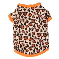 JJ Store Pet Dog Warm Fleece Sweater Puppy Leopard Print Hoodies Coat Clothes Apparel >>> Check this useful article by going to the link at the image.