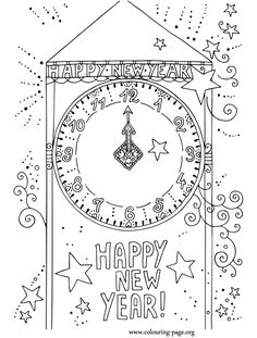 what about print out and coloring this awesome picture about new year come check it new years countdowncountdown clockcoloring pages - New Years Coloring Pages