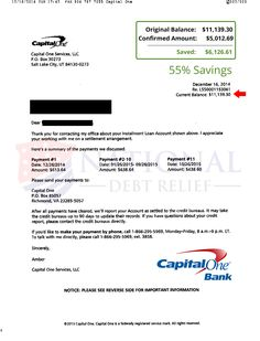 Another Debt Settled With HttpWwwCcdrCa  Capital One