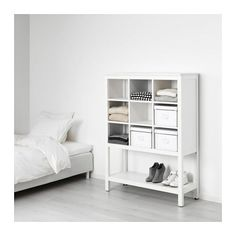 HEMNES Storage unit IKEA Made of solid wood, which is a durable and warm natural material. Practical for folded clothes.