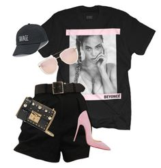 """""""Untitled #34"""" by styledbylillith ❤ liked on Polyvore featuring Quay, Christian Louboutin, SO and Gucci"""