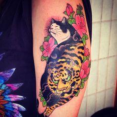 Horitomo Monmon Cat tattoo