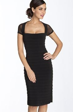 Maggy London Illusion Back Pleated Matte Jersey Dress | Nordstrom - StyleSays