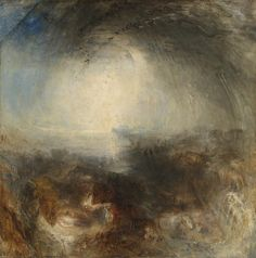 Joseph Mallord William Turner 'Shade and Darkness - the Evening of the Deluge', exhibited 1843