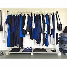 The perfect rack. Blue, navy, black and white summer wardrobe by Sofie D'Hoore and Casey Casey at @tiinathestore #blues #tiinathestore #perfection #amagansett