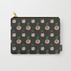 Organize your life with our Carry-All Pouches. Available in three sizes with wraparound artwork, these pouches are perfect for toiletries, art supplies or makeup. Even an iPad fits into the large size. Features include a faux leather pulltab for easy open and close, a durable canvas-like exterior and a 50/50 poly-cotton black interior lining. Machine washable. #cacti society6 #patterns #cactus #pouch #pouchobsessed #art #society6art