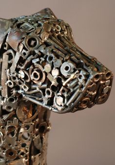 4c7a4578d9 Dog face Sculpture Metal