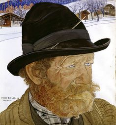 Paintings by Ernest Bieler Swiss Artist - Man from Saviese, 1909