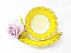 Shelley Yolk Yellow Discontinued Tea Cup and by GlamGirlRetro
