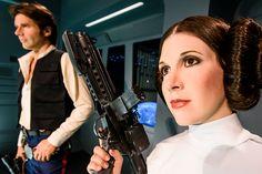 Han and Leia wax figures Madame Tussauds