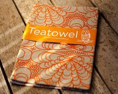 tea towels packaging, something other than a swing tag?