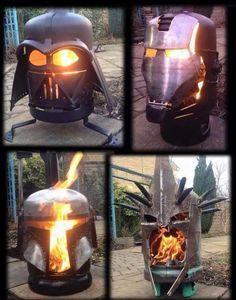 Talented welders create fabulous fire pit works of art.