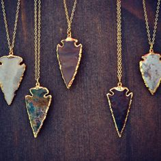 Arrow necklaces - I want them all