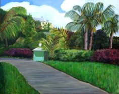 Front drive, acrylic, June 2015