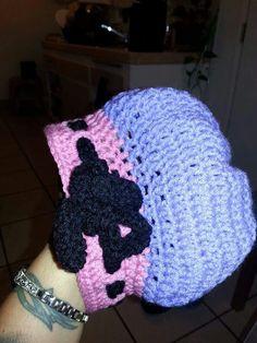 Bonnet girly custom crochet beanie