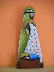 Image result for hand made nativity