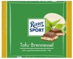 RITTER SPORT Fake Schokolade Tofu-Brennnessel