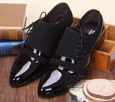 2015 sapatos masculinos de couro dos homens de Polo sapatos Lace Up Flats sapatilhas de negócios e de casamento sapatos Oxfords esporte para homens EUR : 38-44 M-18