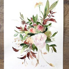 888772fec Image result for dahlia watercolor Hope You, Are You The One, Floral  Illustrations,