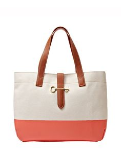 Fossil Austin Shopper Tote Bag - Hot Coral Comes in bright yellow too!