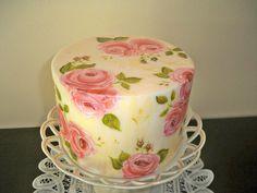 Shabby chic painted cake | Flickr - Photo Sharing!