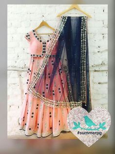 Peach Equalizer Lehenga Call/Message +919899070899