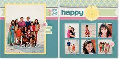 Great #scrapbook layout for family and individual pictures. #CTMH