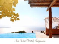 Edeliving Villas: The Mediterranean way of living in Cycladia! Greece Resorts, Hotels And Resorts, Beautiful Villas, Greek Islands, Crete, Luxury Villa, Mykonos, Vip, Insight