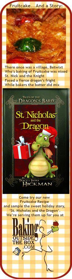 Make fruitcake the easy way with Goody Mix and enjoy a new holiday story: St. Nicholas and the Dragon. http://bakingoutsidethebox.com #Christmas #fruitcake #recipe