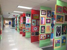 Senior art show display ideas art display panels, artwork display, scho Art Display Panels, Artwork Display, Preschool Art, Art Classroom, Art Festival, Art Plastique, Art Fair, Art School, High School