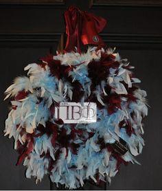 Pi Phi wreath crafting #piphi #pibetaphi