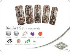 Henna art set Bio Sculpture Gel, Sculpture Art, Bio Art, Gel Color, Nail Art Galleries, Henna Art, Henna Designs, Gems, Nails